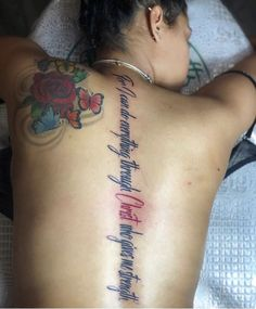 Dope Tattoos For Women, Black Girls With Tattoos, Leg Tattoos Women, Red Tattoos, Badass Tattoos, Tatoos, Pretty Hand Tattoos, Back Tattoo Women Spine, Loyalty Tattoo