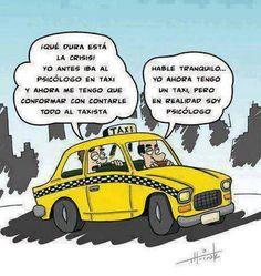 Taxista Psicologo #Humor #Psicologia y es que el trabajo esta fatal