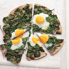 Sunny-Side-Up Egg and Baby-Spinach Flatbread