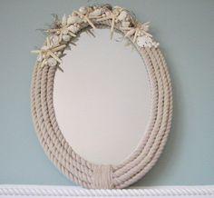 Nautical Decor Seashell Mirror  Beach Decor by beachgrasscottage, $125.00