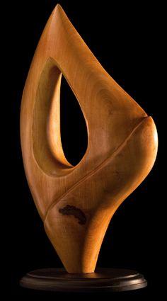 Esculturas De Madera | esculturas acuatica escultura abstracta tallada en madera en guindo de ...