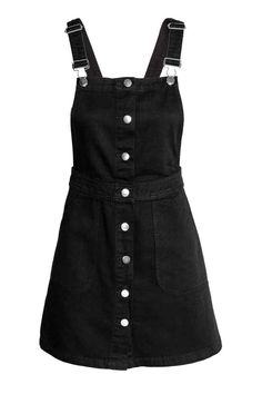 H&M - Denim Bib Overall Dress - Black - Ladies. My Fav Overall Dresses, Dungarees and jumpers. Girls Fashion Clothes, Teen Fashion Outfits, Mode Outfits, Dress Outfits, Girl Fashion, Girl Outfits, Summer Outfits, Preteen Girls Fashion, Dress Summer
