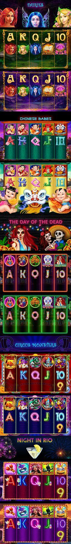 Slot games on Behance