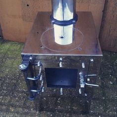 Chrome wasp... Micro wood stove for campervans 2-3Kw 12KG