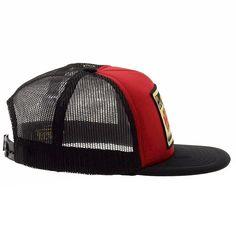 7cda9f58bf3 Amazon.com  Von Dutch Men s Motors Red Black Trucker Cap Hat (One Size Fits  Most)  Clothing