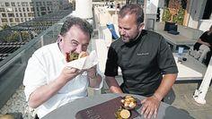 Terrazas con sello Michelin Chefs, Chef Jackets, Gourmet, Decks, Stamps, Restaurants