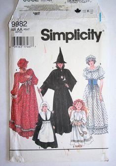 Child/'s Girls Pioneer Trek Pilgrims Frontier Prairie Colonial Dress Costume 6-16