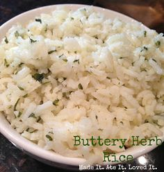 the perfect side dish! yummy and easy butter herb rice