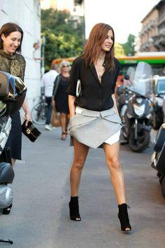 falda asimétrica de Christine Centenera
