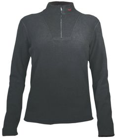 Hot Chillys Womens La Montana Yoke ZipTee Black XLarge * To view further for this item, visit the image link.