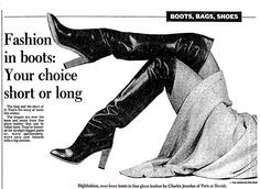 Source: Toronto Star, 1978 Brigitte Bardot, Thigh High Boots, Over The Knee Boots, Vintage Boots, Short Boots, Thigh Highs, Fashion Boots, Leather, Toronto Star