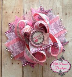 Mommy's Girl Hair Bow by LilPrincessBowtique8 on Etsy, $12.00