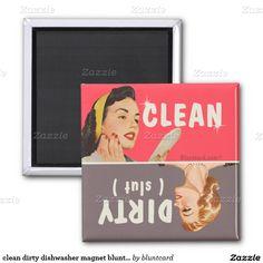 clean dirty dishwasher magnet bluntcard