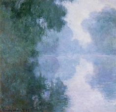 Morning on the Seine near Giverny, the Fog - Claude Monet