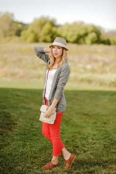 Red pants and hats