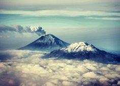 Volcanes Popocatépetl e Iztaccíhuatl, ubicados en México ✿⊱╮