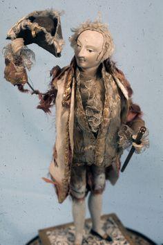 mechanical doll,  1785-1799,   Wood, papier-mache, paper,   France