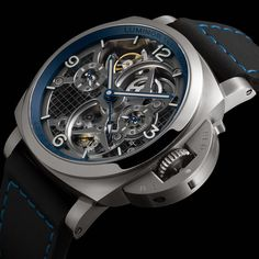 Introducing: The Panerai Lo Scienziato Luminor 1950 Tourbillon GMT Titanio Luminor Panerai Watch, Luminor Watches, Cool Watches, Watches For Men, Men's Watches, Unique Watches, Luxury Watches, Bracelet Watch, Product Launch