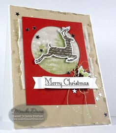 Sweet 'n Sassy Stamp  used: Christmas Silhouettes set, Christmas Silhouettes Die