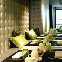Hilton Tysons Corner (banquette with tufted wall)