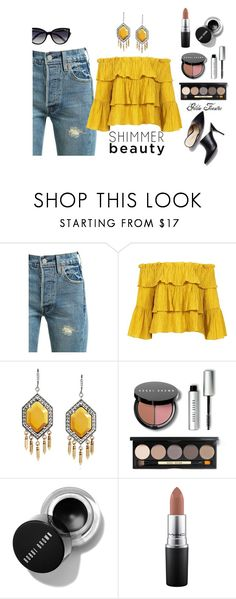"""Yellow"" by gildafuentesb on Polyvore featuring moda, Levi's, Sans Souci, Bobbi Brown Cosmetics, MAC Cosmetics y La Perla"