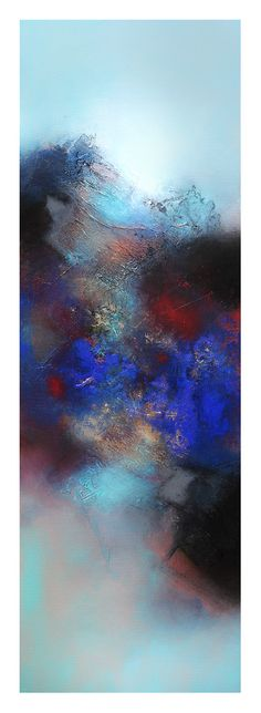 Jewel mountain, 50 x 150 cm, mixed media on canvas by Eelco Mahn