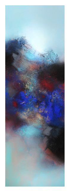 Jewel mountain, 50 x 150 cm, mixed media on canvas