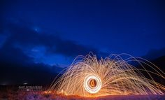 Steel wool at Bromo mountain by Nathalie Stravers on 500px