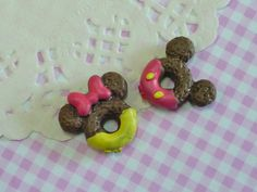 2 pcs/4pcs Mouse Doughnuts with Cream and Bow by forestdiy on Etsy