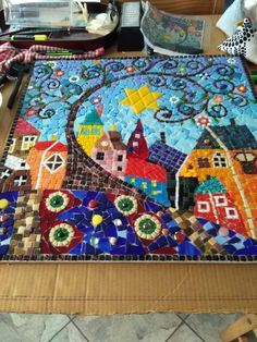 mosaic cat by Ivanéri Bernardes - Salvabrani Mosaic Garden Art, Mosaic Tile Art, Mosaic Artwork, Mosaic Diy, Mosaic Crafts, Mosaic Projects, Mosaic Glass, Mosaic Designs, Mosaic Patterns