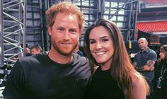 THE teenage daughter of one of rock star Bruce Springsteen's band members has sparked an internet frenzy after posting a picture of herself with Prince Harry.