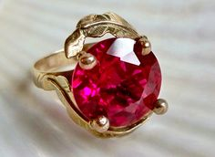 SALE see shop announcement Created ruby solid 14k by Salemsdestash, $300.00