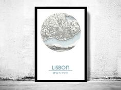 LISBON+-+city+poster+-+city+map+poster+print  Poster+perfect+for+the+office,+bedroom,+halls,+or+anywhere+in+the+home.  ****  The+Poster+is+printed+on+fine+HP+Heavyweight+matte+Lithorealistic+paper+270gsm+ with+100+years+guarantee. The+frame+is+not+included.  ****  Price+showed+is+for+...