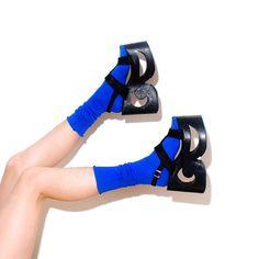Insane SCULPTURAL PLATFORM Shoe // avant garde by paramountvintage