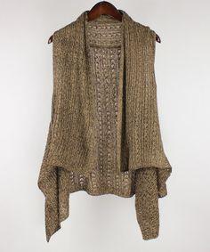 Look what I found on #zulily! Camel Space-Dye Vest by RQ #zulilyfinds