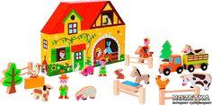 Картинки к Деревянный игровой набор Janod Story box Ферма (J08524) | Rozetka.ua
