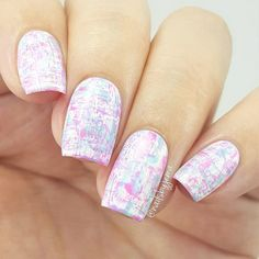 This bright manicure blurred with other bright colors will surely bring with confidence a real city girlfriend.