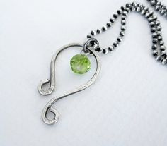LEO - Astrological Symbol for Leo - August Birthday - Genuine Peridot - Sterling Silver - Patricia Ann Jewelry Designs