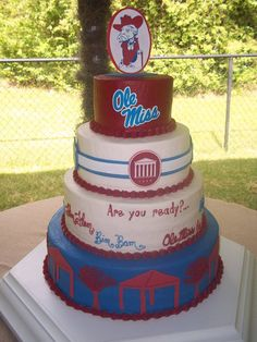 Ole Miss, University of Mississippi, The Grove, Colonel Reb grooms cake created by: Cakes by Mom and Me, LLC