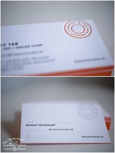 cottonpaperie letterpress business cards on crane lettra and edge paint