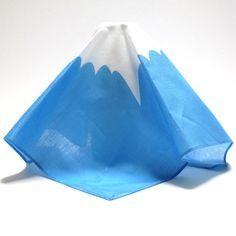 handkerchie-fuji [tk040C] : 東京キッチュ ユニークな和雑貨土産の通販サイト, 東京キッチュ