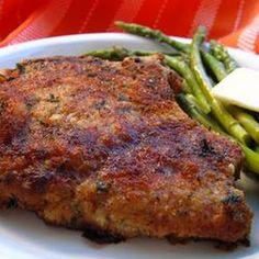 Italian Breaded Pork Chops -- made these last night!! So yummy!!