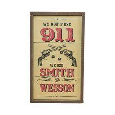 Smith & Wesson Sign (22746) - Home Décor - Montana Lifestyles | Montana Silversmiths