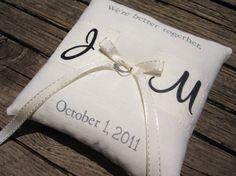 Ring bearer pillow :)