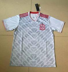 27b827e21 2018 World Cup Jersey Spain Away Replica White Shirt 2018 World Cup Jersey  Spain Away Replica White Shirt