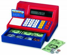 Brinquedo Learning Resources Pretend & Play Calculator Cash Reg #Brinquedo #Learning Resources