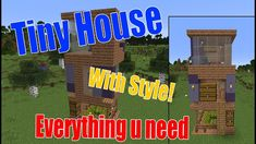 Minecraft Tiny House 3x3 | Style + Everything u need #minecraft #minecraftHouse #minecraftBuild #tinyHouse #3x3 Minecraft House Tutorials, Minecraft Ideas, Modern Minecraft Houses, All Video Games, Minecraft Survival, Looks Cool, Tiny House, Everything, Things To Do
