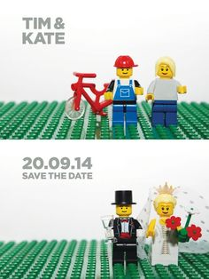 Lego themed wedding invitations would surely make your guests happy. It guarantees playfulness and fun element. Check out how small details can elevate the overall look of lego wedding theme.