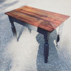 Thinking about casters for this newly finished table...August 2016