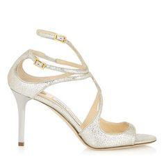Champagne Glitter Strappy Sandals